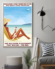 Girl Loved Travelling Born In November 24x36 Poster lifestyle-poster-1
