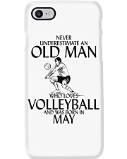 Never Underestimate Old Man Volleyball May Phone Case thumbnail