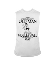 Never Underestimate Old Man Volleyball May Sleeveless Tee thumbnail