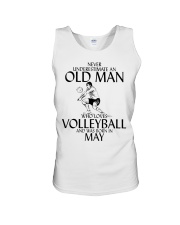 Never Underestimate Old Man Volleyball May Unisex Tank thumbnail