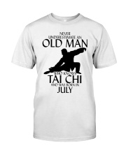 Never Underestimate Old Man Tai Chi July Classic T-Shirt tile