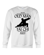 Never Underestimate Old Man Tai Chi July Crewneck Sweatshirt tile