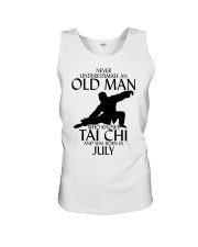 Never Underestimate Old Man Tai Chi July Unisex Tank tile