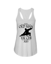 Never Underestimate Old Man Tai Chi July Ladies Flowy Tank tile