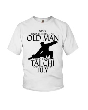 Never Underestimate Old Man Tai Chi July Youth T-Shirt tile