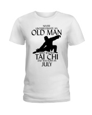 Never Underestimate Old Man Tai Chi July Ladies T-Shirt tile