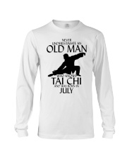 Never Underestimate Old Man Tai Chi July Long Sleeve Tee tile