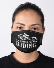 Rather be riding horses equestrian horseback  Cloth face mask aos-face-mask-lifestyle-01