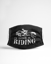 Rather be riding horses equestrian horseback  Cloth face mask aos-face-mask-lifestyle-22