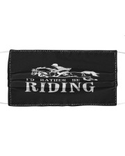 Rather be riding horses equestrian horseback  Cloth face mask front