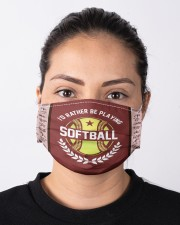 I'd Rather Be Playing Softball Cloth face mask aos-face-mask-lifestyle-01