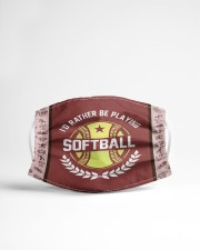 I'd Rather Be Playing Softball Cloth face mask aos-face-mask-lifestyle-22