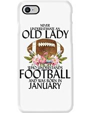Never Underestimate Old Lady Football January Phone Case thumbnail