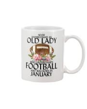 Never Underestimate Old Lady Football January Mug thumbnail