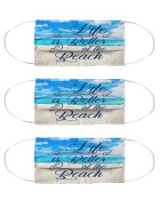 Life Is Better At The Beach Cloth Face Mask - 3 Pack front