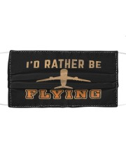 Vintage retro i'd rather be flying funny  Cloth face mask front