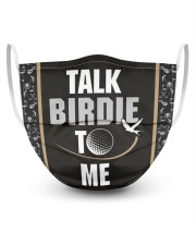 Talk Birdie To Me Golf  3 Layer Face Mask - Single front