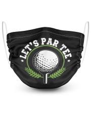 Let's par tee party par funny golf partee 2 Layer Face Mask - Single front