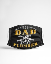 best kind of dad raises a plumber funny  Cloth face mask aos-face-mask-lifestyle-22