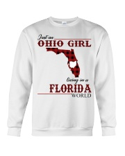 Just An Ohio Girl In Florida World Crewneck Sweatshirt thumbnail