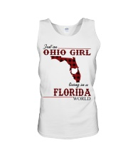 Just An Ohio Girl In Florida World Unisex Tank thumbnail