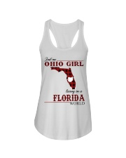Just An Ohio Girl In Florida World Ladies Flowy Tank thumbnail