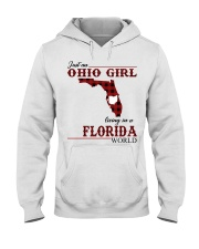 Just An Ohio Girl In Florida World Hooded Sweatshirt thumbnail