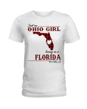 Just An Ohio Girl In Florida World Ladies T-Shirt thumbnail