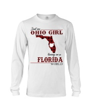 Just An Ohio Girl In Florida World Long Sleeve Tee thumbnail