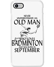 Never Underestimate Old Man Badminton September Phone Case thumbnail