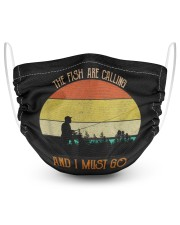 The fish are calling and i must 2 Layer Face Mask - Single front