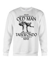 Never Underestimate Old Man Taekwondo May Crewneck Sweatshirt thumbnail