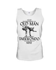 Never Underestimate Old Man Taekwondo May Unisex Tank thumbnail