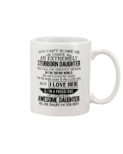 You Can't Scare Me I Have Stubborn Daughter Mug thumbnail