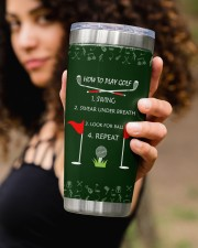 How to play golf - Personalized Christmas Gift 20oz Tumbler aos-20oz-tumbler-lifestyle-front-93