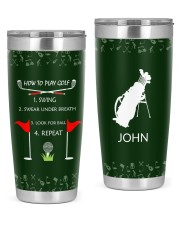 How to play golf - Personalized Christmas Gift 20oz Tumbler front