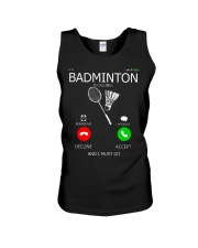 Badminton Is Calling And I Must Go Unisex Tank thumbnail