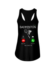 Badminton Is Calling And I Must Go Ladies Flowy Tank thumbnail