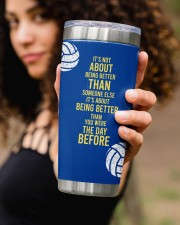 Volleyball It's not- Personalized Christmas Gift 20oz Tumbler aos-20oz-tumbler-lifestyle-front-93