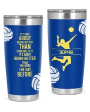 Volleyball It's not- Personalized Christmas Gift 20oz Tumbler front