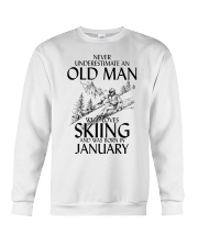 An Old Man Loves Skiing January Crewneck Sweatshirt thumbnail