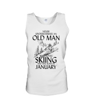 An Old Man Loves Skiing January Unisex Tank thumbnail
