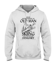 An Old Man Loves Skiing January Hooded Sweatshirt thumbnail