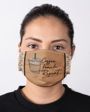 Coffee Teach Repeat Cloth face mask aos-face-mask-lifestyle-01