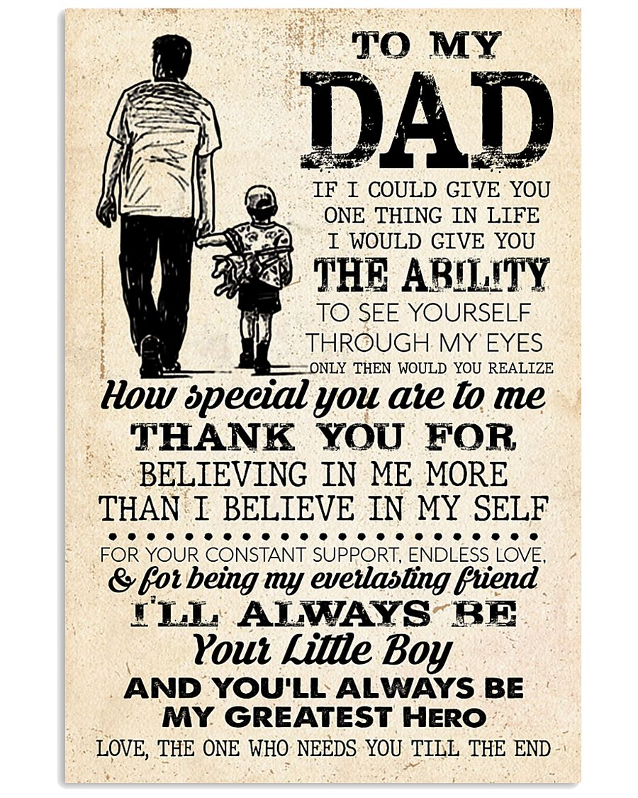 To My Dad  24x36 Poster