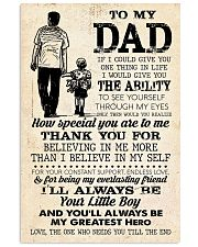 To My Dad  24x36 Poster front