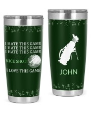 golf I hate this game Personalized Christmas Gift 20oz Tumbler front