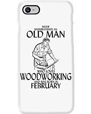 Never Underestimate Old Man Woodworking February Phone Case thumbnail