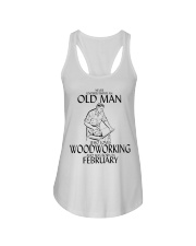 Never Underestimate Old Man Woodworking February Ladies Flowy Tank thumbnail