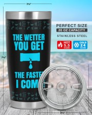 Plumber The Wetter You Get The Faster Personalized 20oz Tumbler aos-20oz-tumbler-lifestyle-front-47